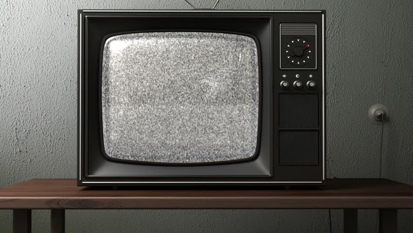 old TV. switching channels - HD stock footage clip