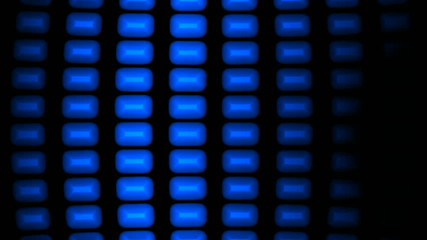 High Definition abstract CGI motion backgrounds ideal for editing, led backdrops or broadcasting featuring blue rectangular shapes moving on a black background - HD stock footage clip