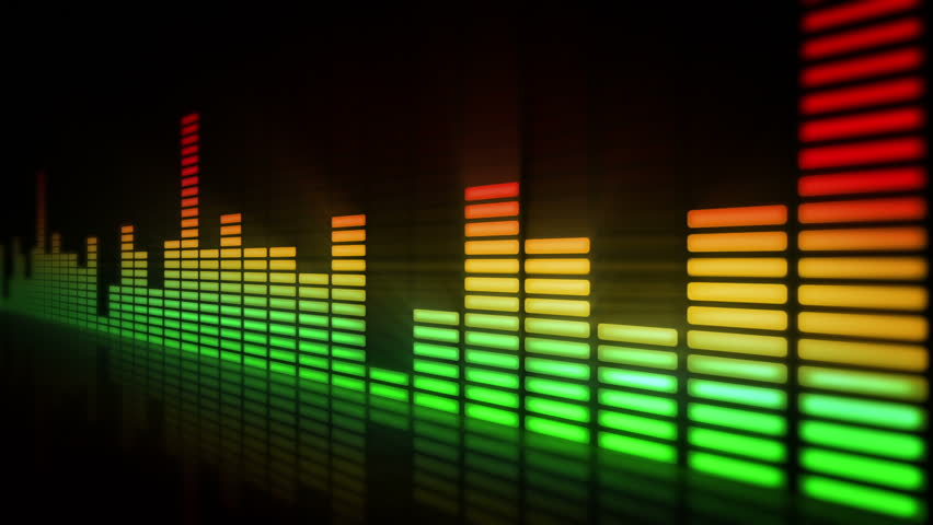 Download Free 3d Music Equalizer Wallpapers Hd: Audio Equalizer Bars Moving. Loopable. Multicolored And