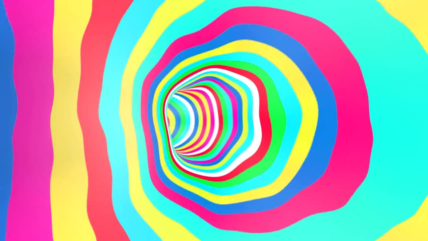 Color Tunnel Rotation Loop - HD stock video clip