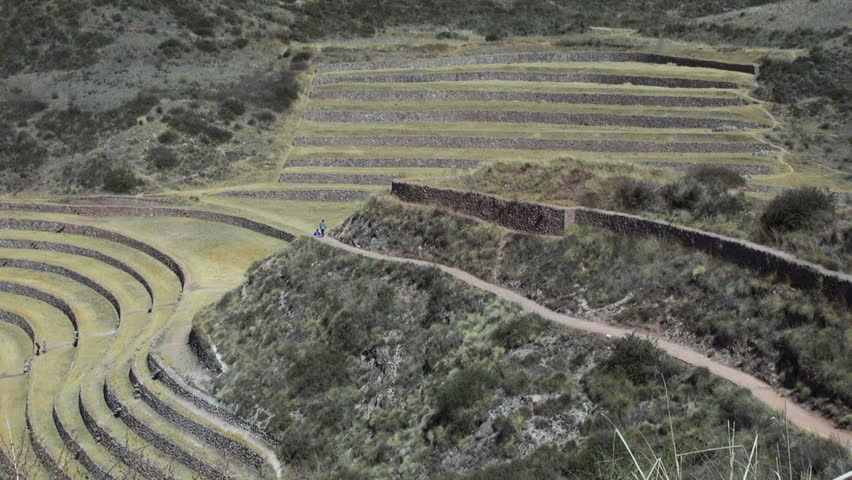 Geometric moray footage stock clips videos for Terracing definition in agriculture