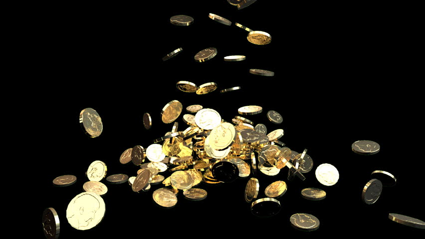 gold coins black background - photo #14