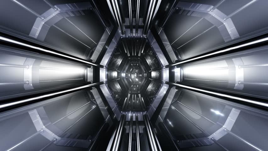 Tunnel Tube Metal SF. | Shutterstock HD Video #4472690
