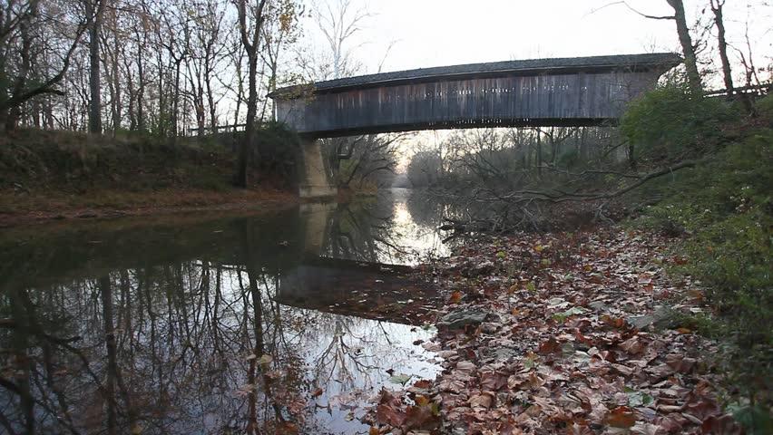 Colville Covered Bridge, Kentucky - HD stock video clip