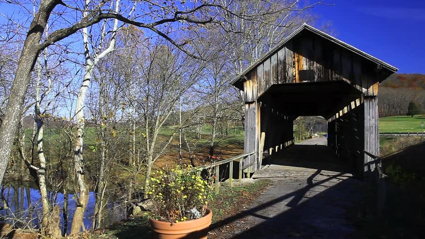 Ringos Mill Covered Bridge, Kentucky - HD stock footage clip