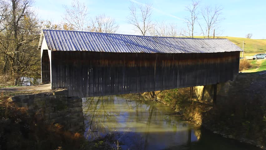 Hillsboro Covered Bridge, Kentucky - HD stock video clip