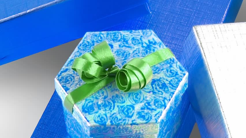 different types of present boxes 1920x1080 intro motion slow hidef hd