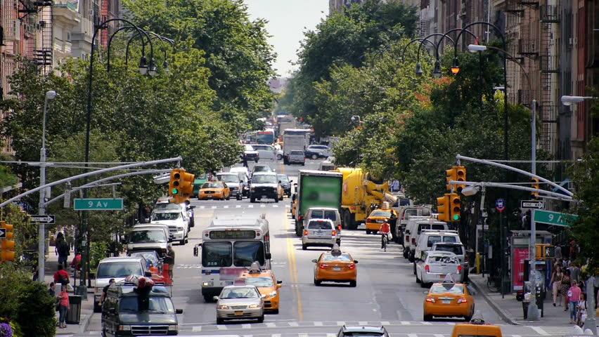 Looking down 14th street in Chelsea.