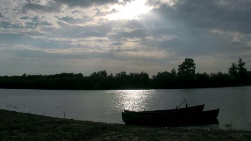 Old fisherman boat - HD stock video clip