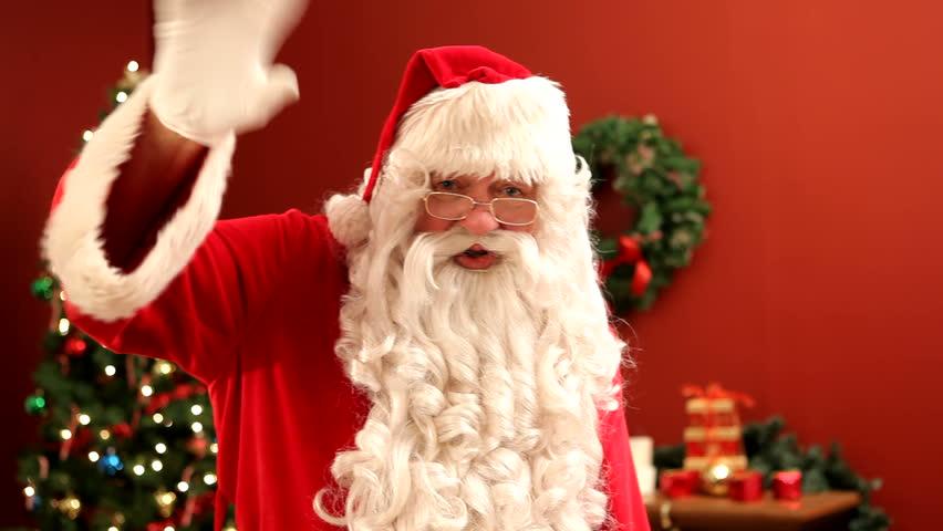 Santa Claus waving - HD stock footage clip