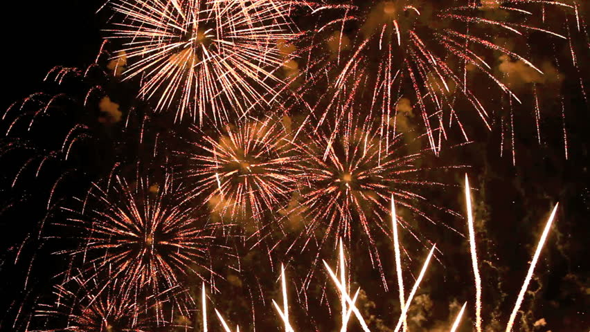 Spectacular fireworks finale with sound.   | Shutterstock HD Video #4556318