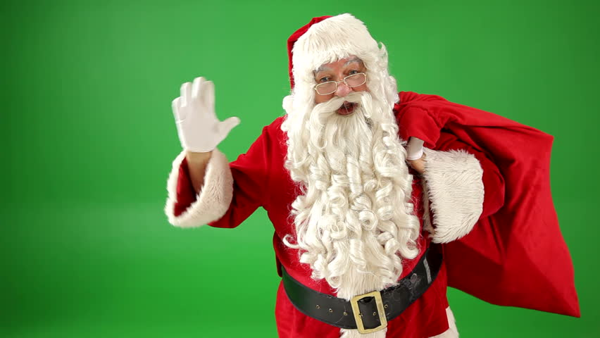 Disappointed santa claus stock footage video