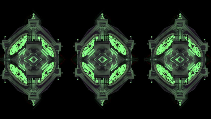 Colorful Kaleidoscopic Clock Video Background Loop