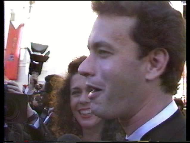LOS ANGELES - March 29, 1989: Tom Hanks And Rita Wilson At ...