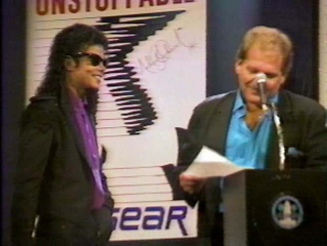 January 1, 1987: Michael Jackson at the Michael Jackson LA Gear Event in the in January 1, 1987