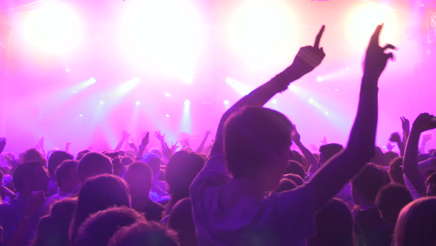 Silhouette of People partying during a festival | Shutterstock HD Video #4563473