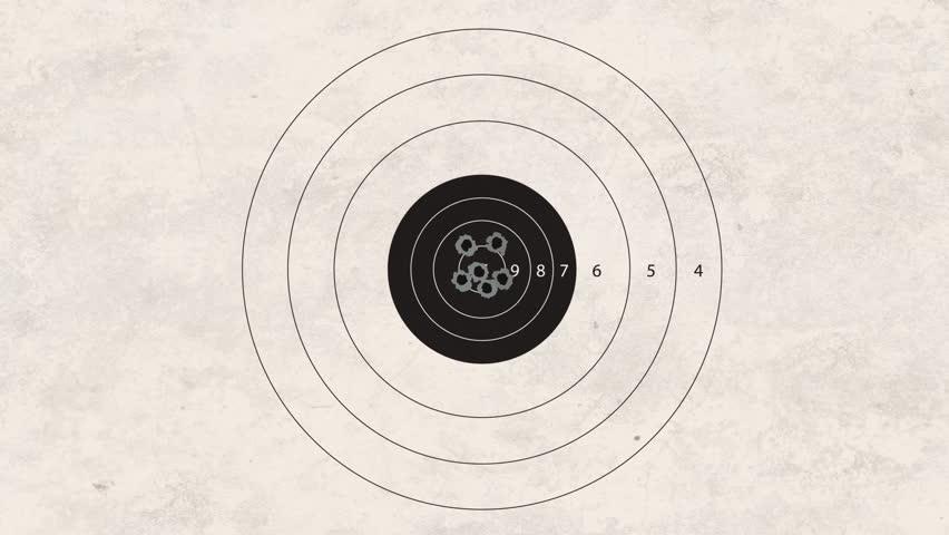 gun shoot to the shooting target concept - HD stock video clip