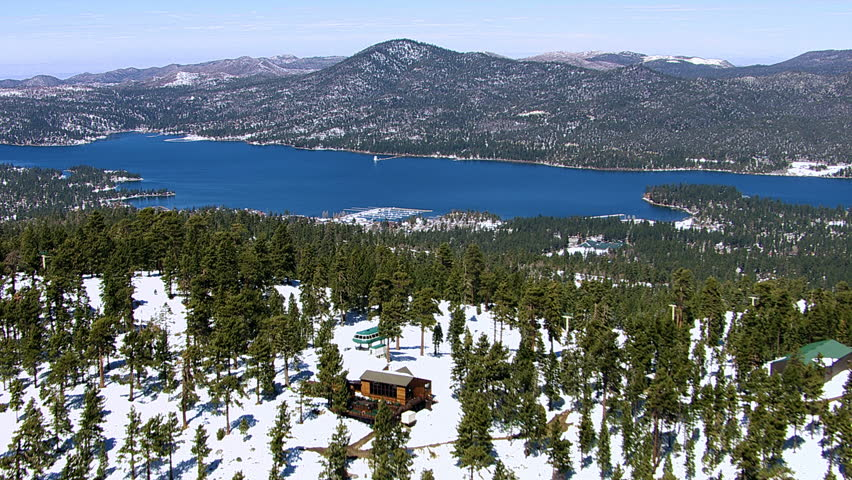 Aerial shot of Big Bear Lake, California