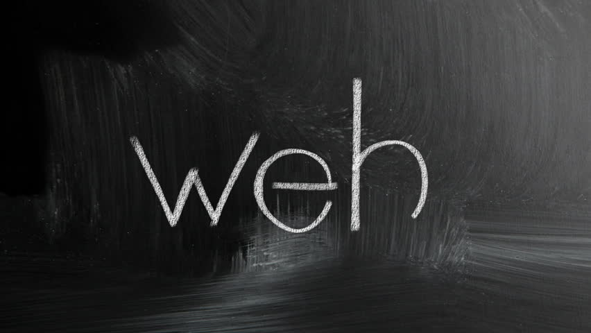 Web Handwritten With White Chalk On A Blackboard
