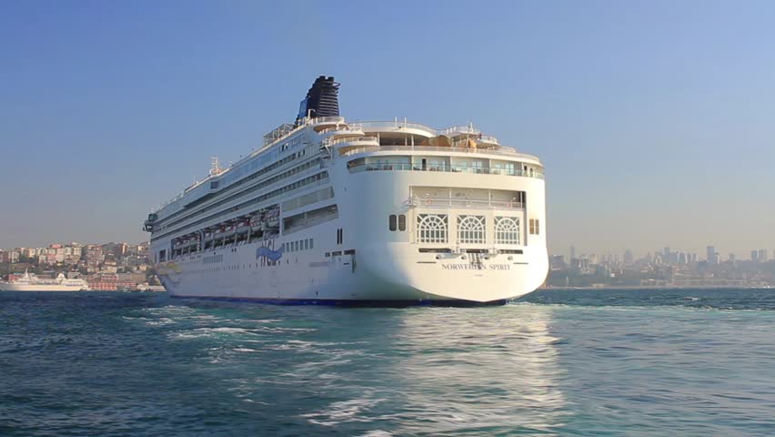 ISTANBUL - JUL 29: Luxury passenger ship Norwegian Spirit (IMO: 9141065,