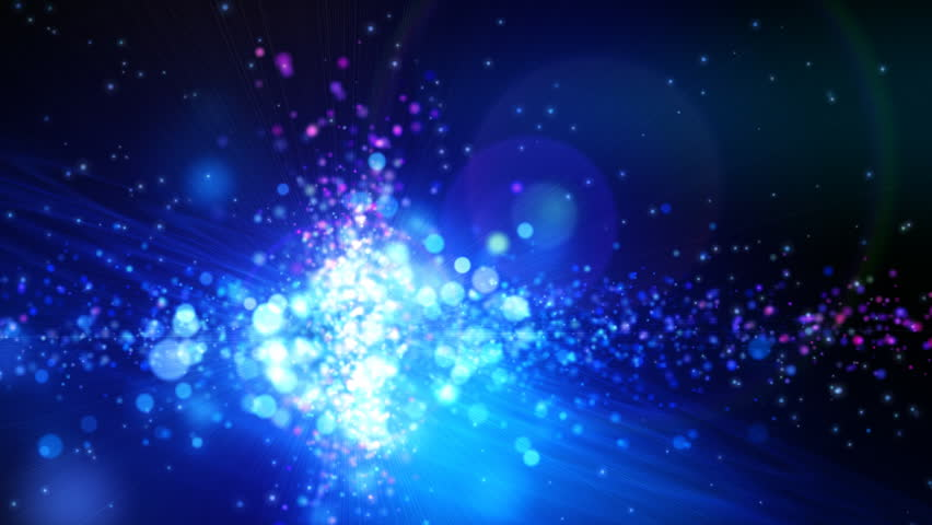Abstract motion background, shining lights, stars, particles, energy waves, seamless looping.