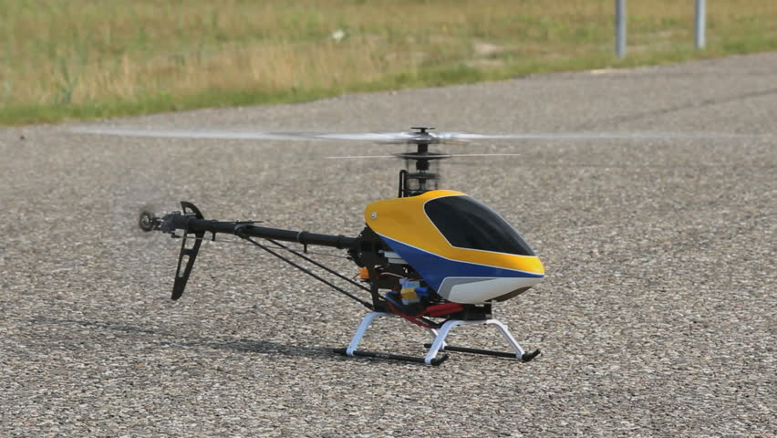 RC Helicopter flying - HD stock video clip
