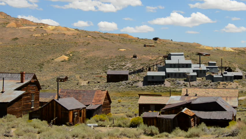 Bodie California - Abandon Mining Ghost Town - Daytime - HD stock footage clip