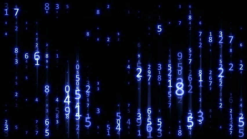 Matrix Digital Rain - Blue - Data Flow Loop