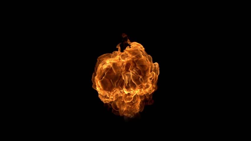 Fire explosion shooting with high speed camera, phantom flex.