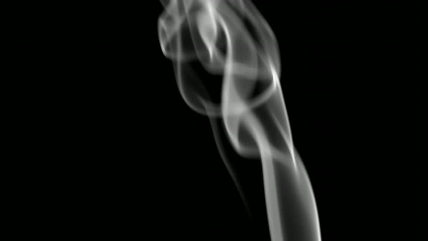 A steady stream of smoke. - HD stock video clip