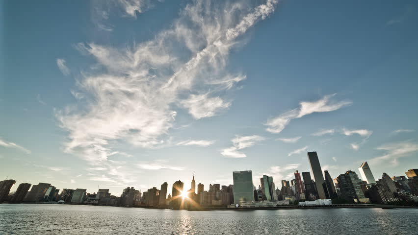 NEW YORK - SEPTEMBER 9: Manhattan landmark skyscrapers on September 9, 2013 in New York. Manhattan is New York City's smallest yet most populous of its five boroughs. | Shutterstock HD Video #4652348