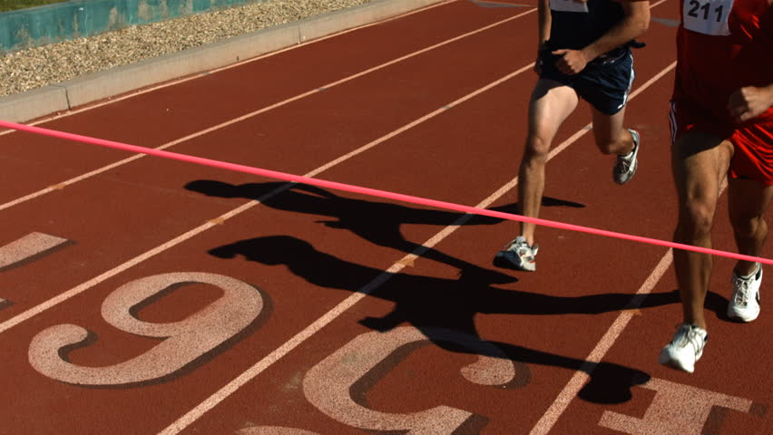 Track runners at finish line, slow motion | Shutterstock HD Video #4656992