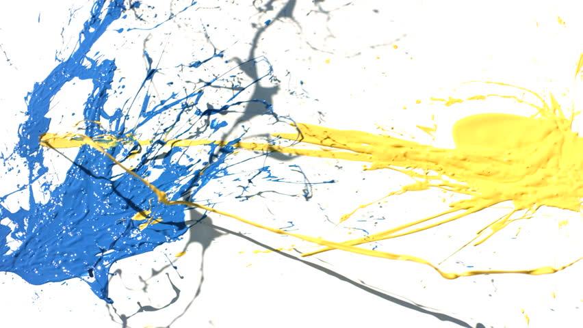 Splattering Oil Paint