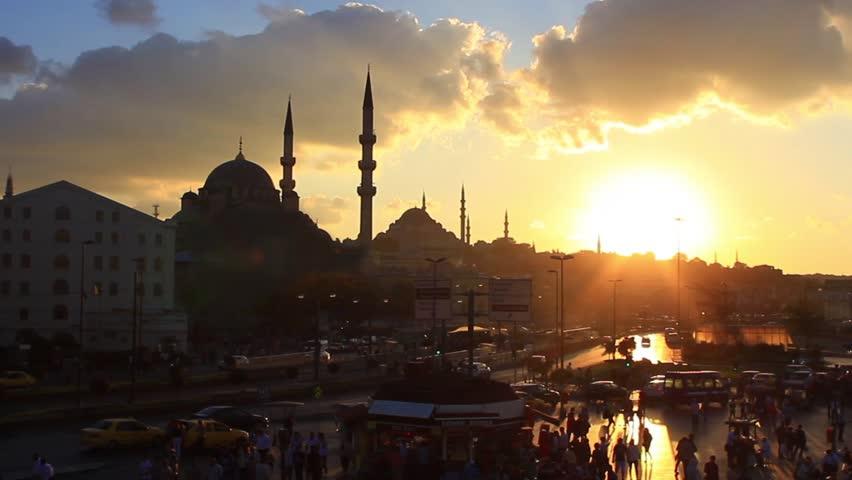 Istanbul City Sunset