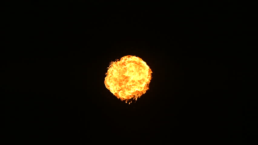Fire ball explosion, slow motion