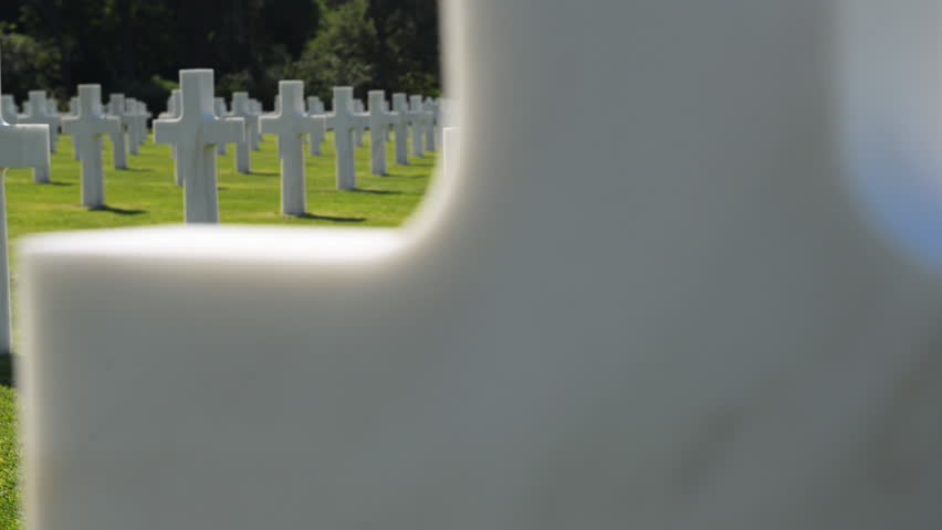 American war cemetery, France - HD stock video clip