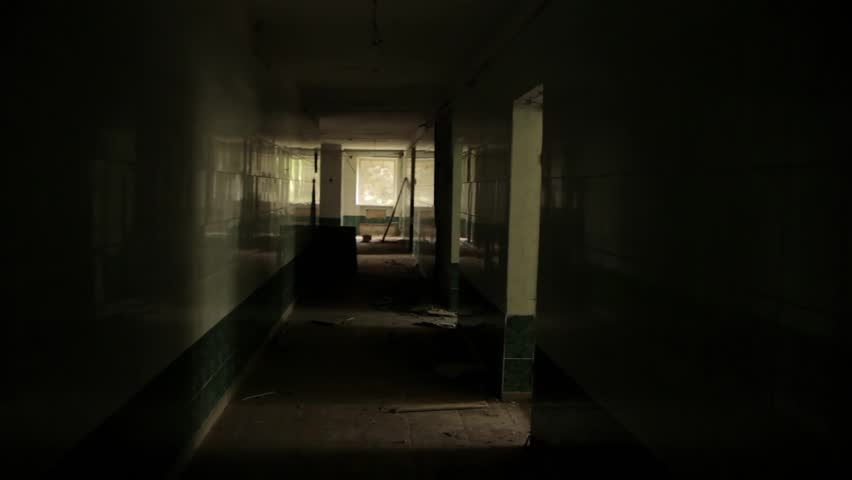 Camera flying in the hallway of the abandoned house. POV, steadycam | Shutterstock HD Video #4714340