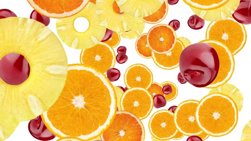 Cocktail fruit theme animation