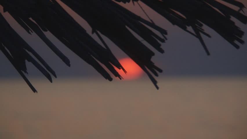 Background - sunset  landscape beach - HD stock footage clip