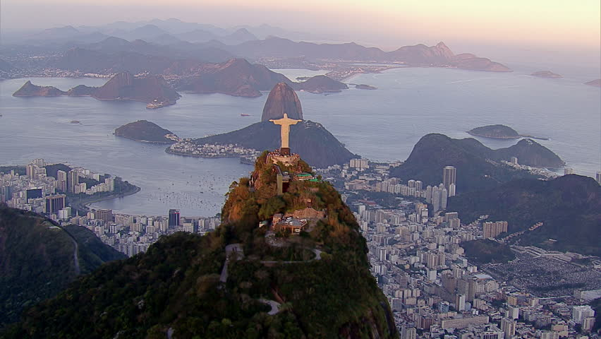 Christ the Redemeer Statue at Sunset, Rio de Janeiro, Brazil | Shutterstock HD Video #4760483