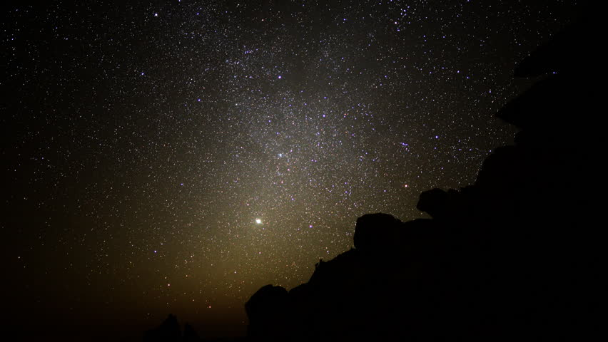 Star Time Lapse, Milky Way Galaxy At Night Stock Footage ...