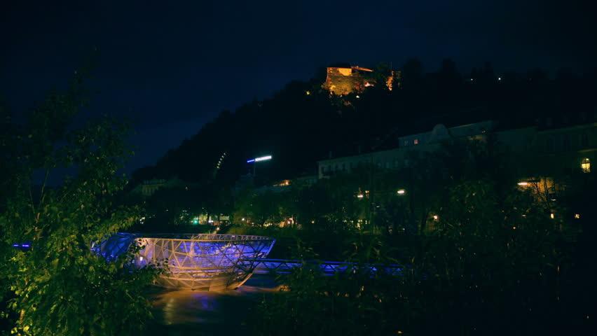 Modern Architecture Videos graz, austria - may 14: modern architecture on the river mura