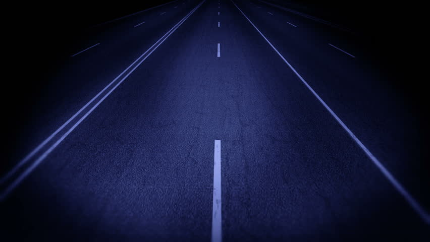 Computer generated of running road at night