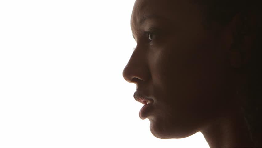 Profile of black woman