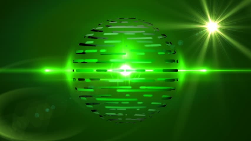 Green Sphere and Lens Flares