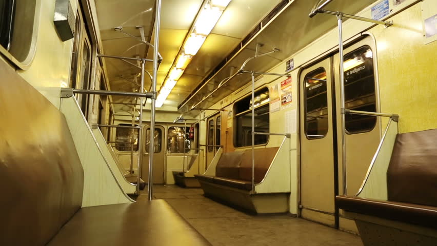 interior of moving subway car stock footage video 4791524 shutterstock. Black Bedroom Furniture Sets. Home Design Ideas