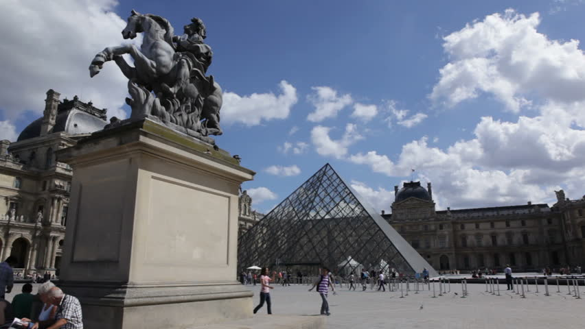 Paris, France - May 6th, 2012: Louvre square in Paris