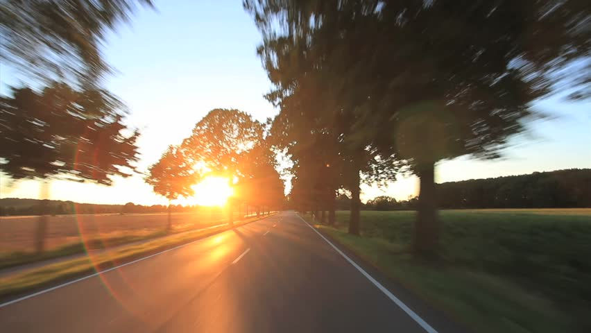 Driving - Driving shot with roof mounted camera  - Germany pov  - HD stock footage clip