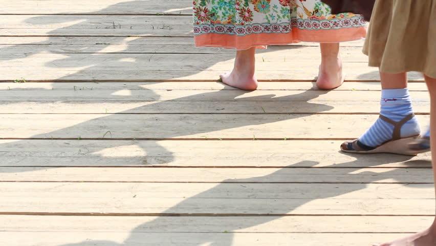 closeup of dancing feet - HD stock footage clip