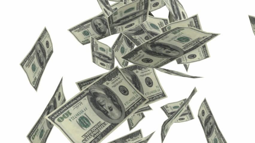dollar bills falling on - photo #38
